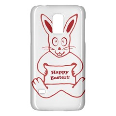Cute Bunny With Banner Drawing Samsung Galaxy S5 Mini Hardshell Case