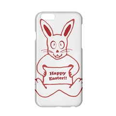 Cute Bunny With Banner Drawing Apple iPhone 6 Hardshell Case