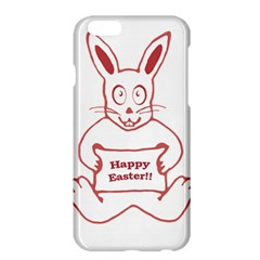 Cute Bunny With Banner Drawing Apple iPhone 6 Plus Hardshell Case