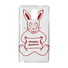 Cute Bunny With Banner Drawing Samsung Galaxy Note 4 Hardshell Case