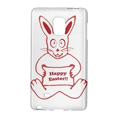 Cute Bunny With Banner Drawing Samsung Galaxy Note Edge Hardshell Case