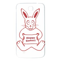 Cute Bunny With Banner Drawing Samsung Galaxy Mega I9200 Hardshell Back Case
