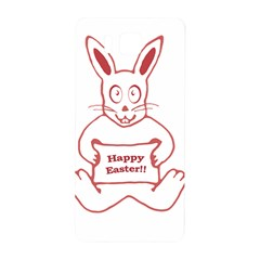Cute Bunny With Banner Drawing Samsung Galaxy Alpha Hardshell Back Case