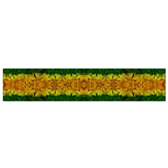 Tribal Floral Pattern Flano Scarf (Small)