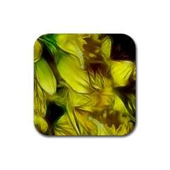 Abstract Yellow Daffodils Drink Coaster (square)