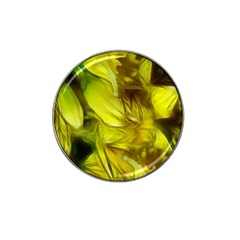 Abstract Yellow Daffodils Golf Ball Marker 4 Pack (for Hat Clip)