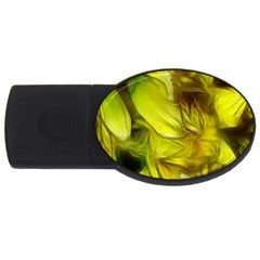 Abstract Yellow Daffodils 4gb Usb Flash Drive (oval)