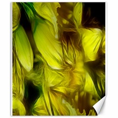 Abstract Yellow Daffodils Canvas 20  X 24  (unframed)