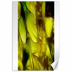 Abstract Yellow Daffodils Canvas 20  X 30  (unframed)