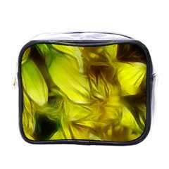 Abstract Yellow Daffodils Mini Travel Toiletry Bag (one Side)