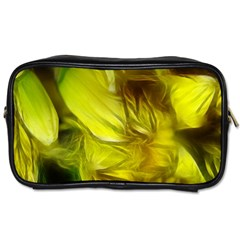 Abstract Yellow Daffodils Travel Toiletry Bag (one Side)