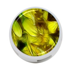 Abstract Yellow Daffodils 4 Port Usb Hub (two Sides)