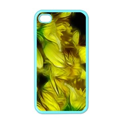 Abstract Yellow Daffodils Apple Iphone 4 Case (color)