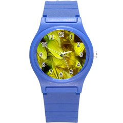 Abstract Yellow Daffodils Plastic Sport Watch (small)