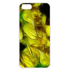 Abstract Yellow Daffodils Apple Iphone 5 Seamless Case (white)
