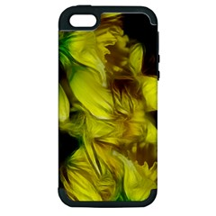 Abstract Yellow Daffodils Apple Iphone 5 Hardshell Case (pc+silicone)