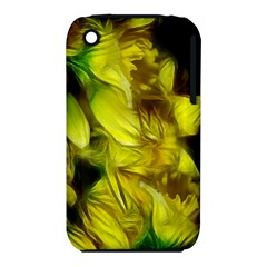 Abstract Yellow Daffodils Apple iPhone 3G/3GS Hardshell Case (PC+Silicone)