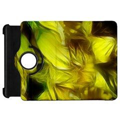 Abstract Yellow Daffodils Kindle Fire Hd Flip 360 Case