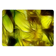 Abstract Yellow Daffodils Samsung Galaxy Tab 10.1  P7500 Flip Case
