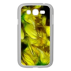 Abstract Yellow Daffodils Samsung Galaxy Grand DUOS I9082 Case (White)