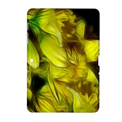Abstract Yellow Daffodils Samsung Galaxy Tab 2 (10 1 ) P5100 Hardshell Case