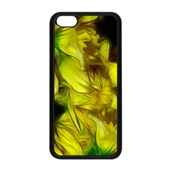 Abstract Yellow Daffodils Apple Iphone 5c Seamless Case (black)