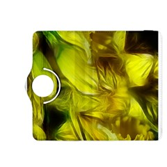 Abstract Yellow Daffodils Kindle Fire HDX 8.9  Flip 360 Case