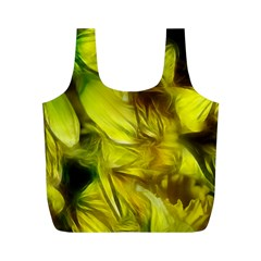 Abstract Yellow Daffodils Reusable Bag (M)