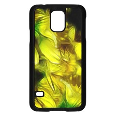 Abstract Yellow Daffodils Samsung Galaxy S5 Case (Black)