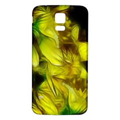 Abstract Yellow Daffodils Samsung Galaxy S5 Back Case (White)