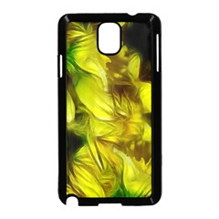 Abstract Yellow Daffodils Samsung Galaxy Note 3 Neo Hardshell Case (black)