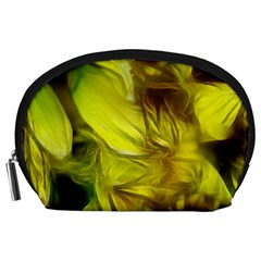 Abstract Yellow Daffodils Accessory Pouch (Large)