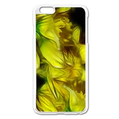 Abstract Yellow Daffodils Apple iPhone 6 Plus Enamel White Case