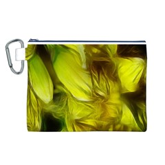 Abstract Yellow Daffodils Canvas Cosmetic Bag (Large)