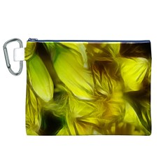 Abstract Yellow Daffodils Canvas Cosmetic Bag (xl)