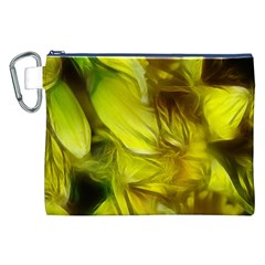 Abstract Yellow Daffodils Canvas Cosmetic Bag (XXL)
