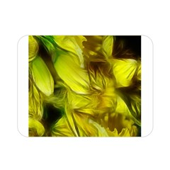 Abstract Yellow Daffodils Double Sided Flano Blanket (Mini)