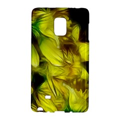 Abstract Yellow Daffodils Samsung Galaxy Note Edge Hardshell Case