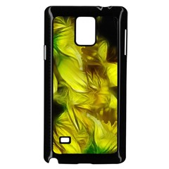 Abstract Yellow Daffodils Samsung Galaxy Note 4 Case (Black)