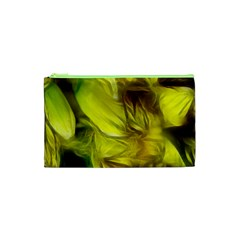 Abstract Yellow Daffodils Cosmetic Bag (XS)