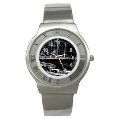 Adams Street Bridge Stainless Steel Watch (slim)