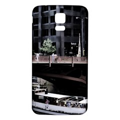 Adams Street Bridge Samsung Galaxy S5 Back Case (White)