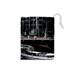 Adams Street Bridge Drawstring Pouch (small)