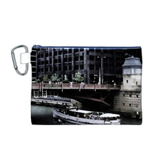 Adams Street Bridge Canvas Cosmetic Bag (Medium)