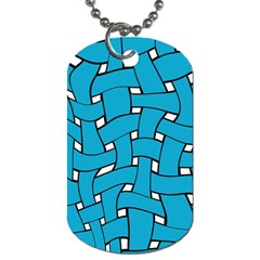 Blue Distorted Weave Dog Tag (one Side)