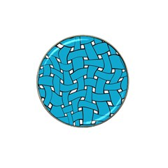 Blue Distorted Weave Hat Clip Ball Marker (10 Pack)