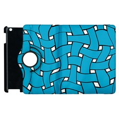Blue distorted weave Apple iPad 3/4 Flip 360 Case