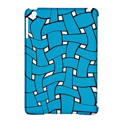 Blue Distorted Weave Apple Ipad Mini Hardshell Case (compatible With Smart Cover)