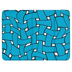 Blue distorted weave Samsung Galaxy Tab 7  P1000 Flip Case