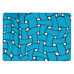 Blue distorted weave Samsung Galaxy Tab 10.1  P7500 Flip Case
